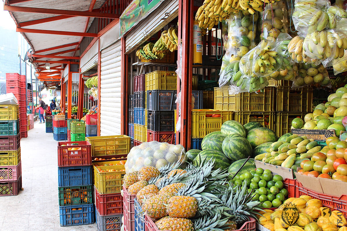 Image of the market of fruits and vegetables in Bogota, Colombia