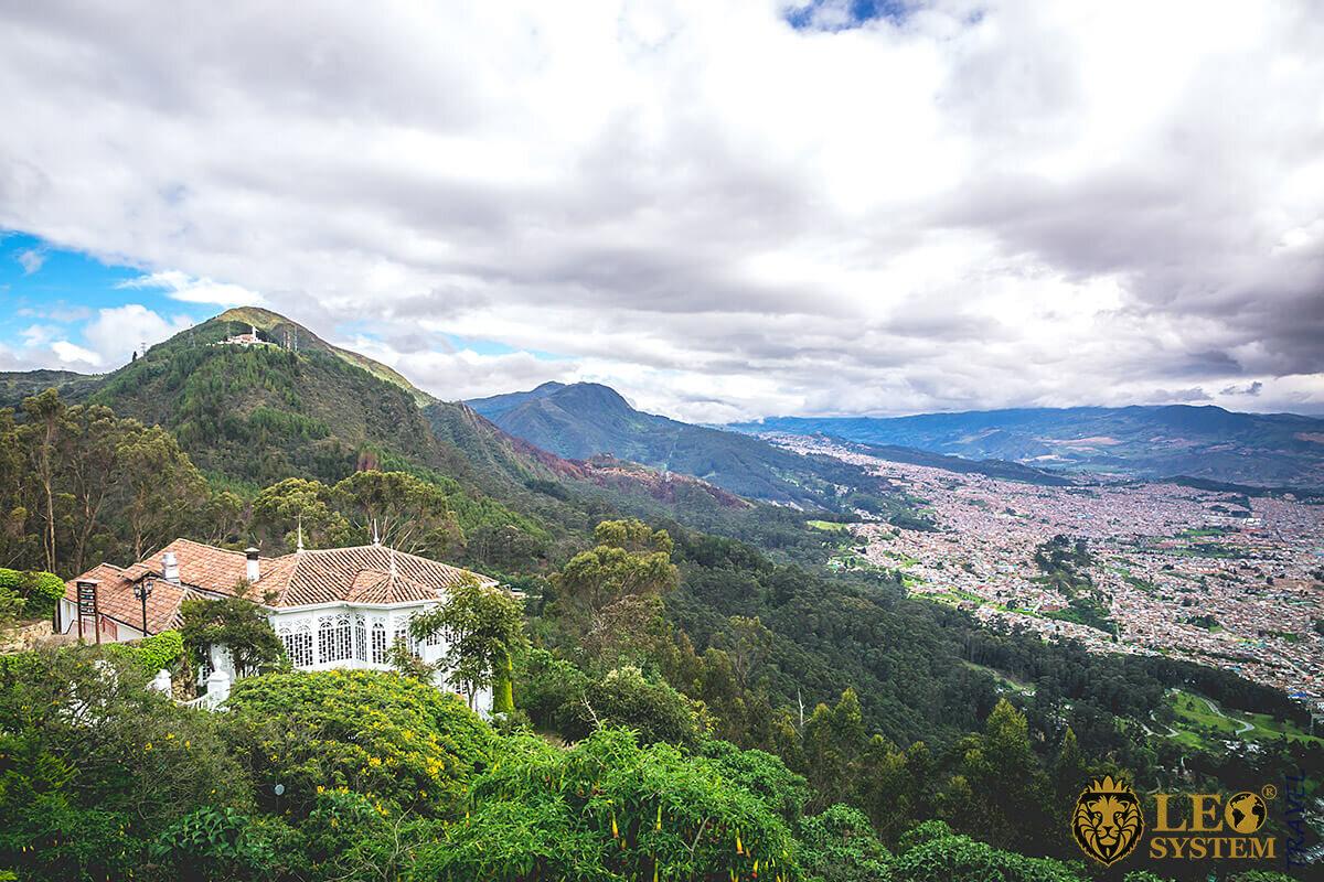 Cerro de Monteseratte in Bogota, Colombia