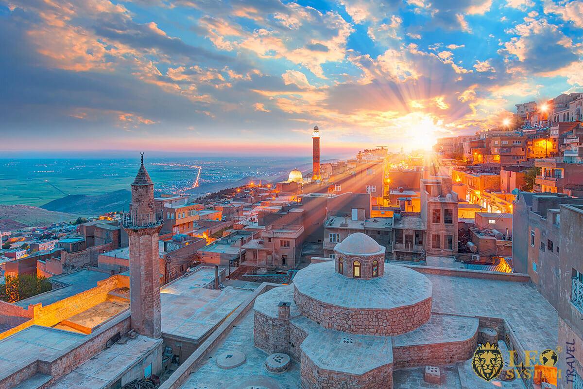 Mardin old town at sunset - Turkey