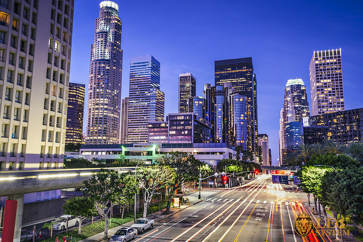 Panoramic view of Los Angeles Center, California