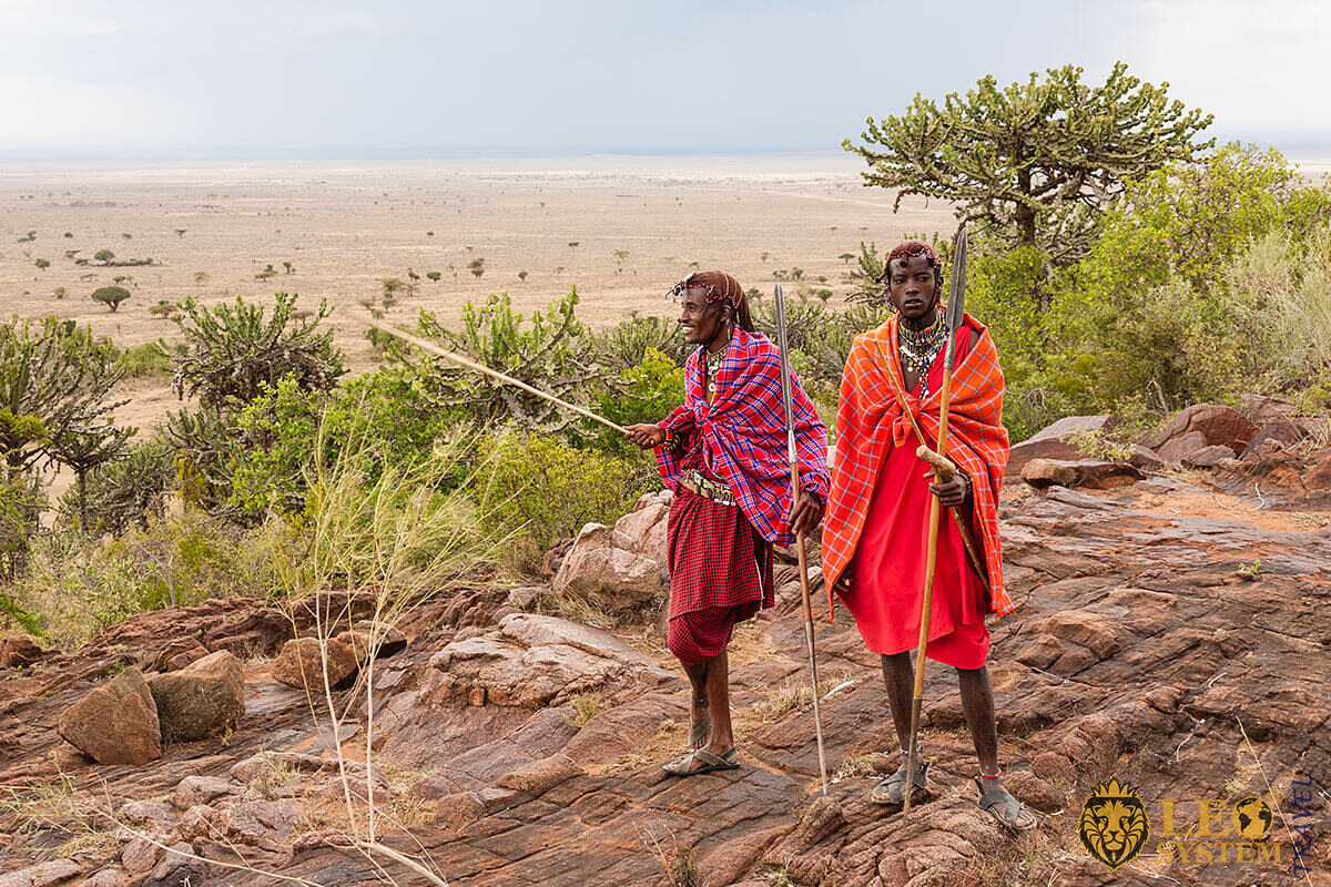 Image of an African tribe with spears