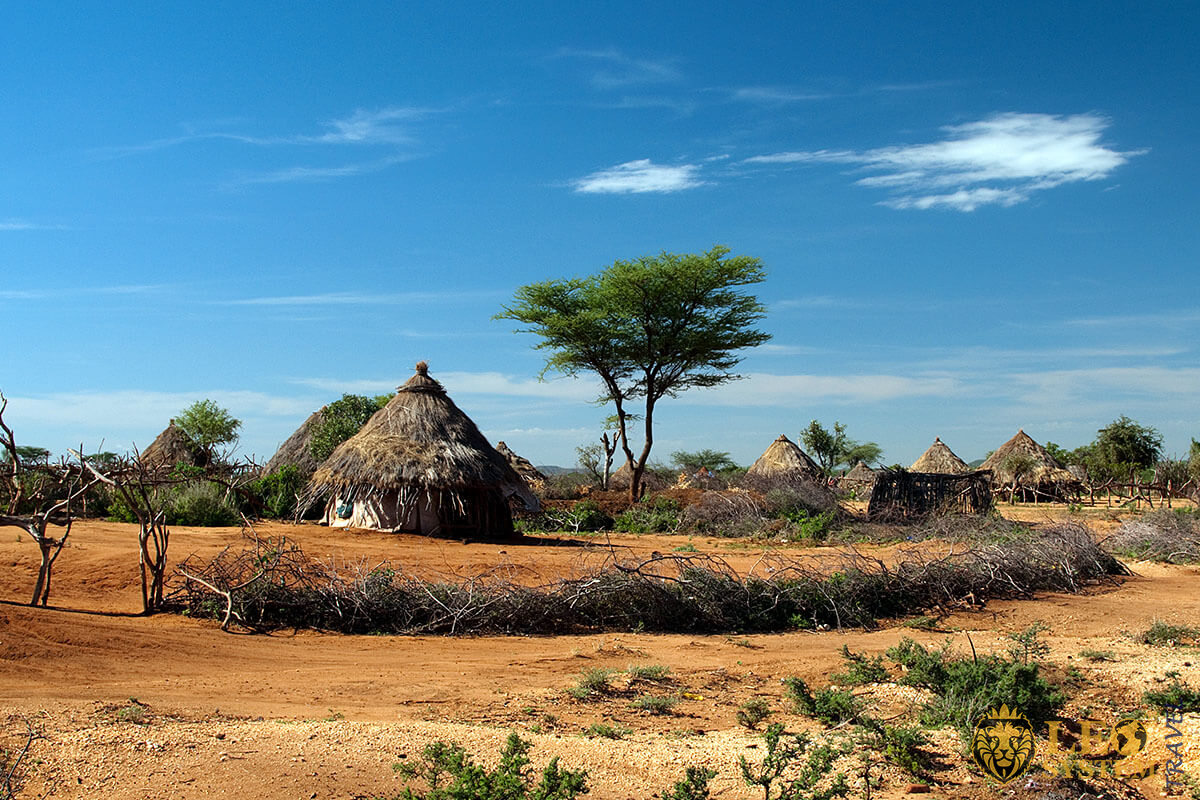 Image of an African village