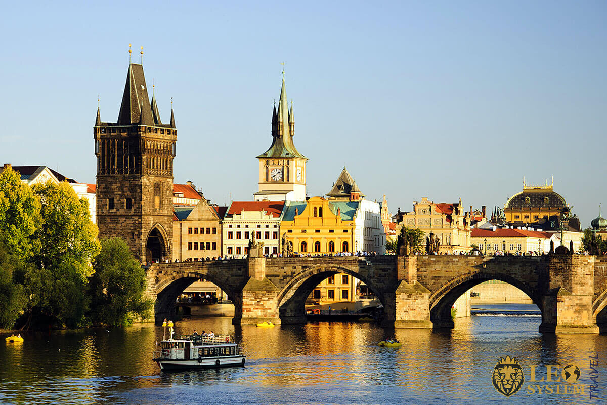 Old Town Square and Charles Bridge in Prague, Czech Republic