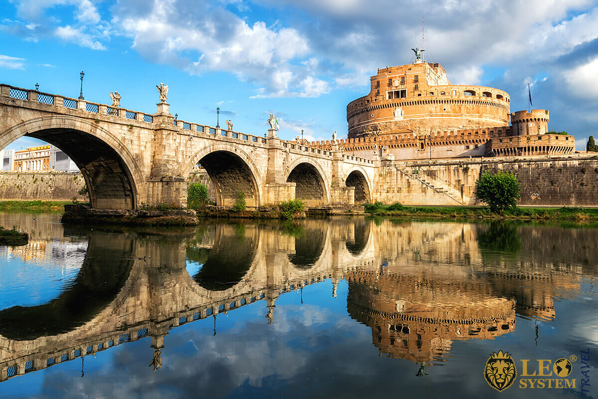 Castel Sant'Angelo - a tomb of the late Roman Emperor Hadrian, Rome