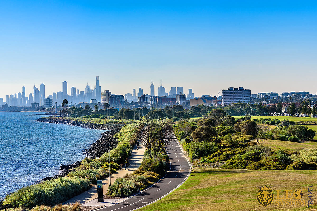 View of Saint Kilda Road, Melbourne