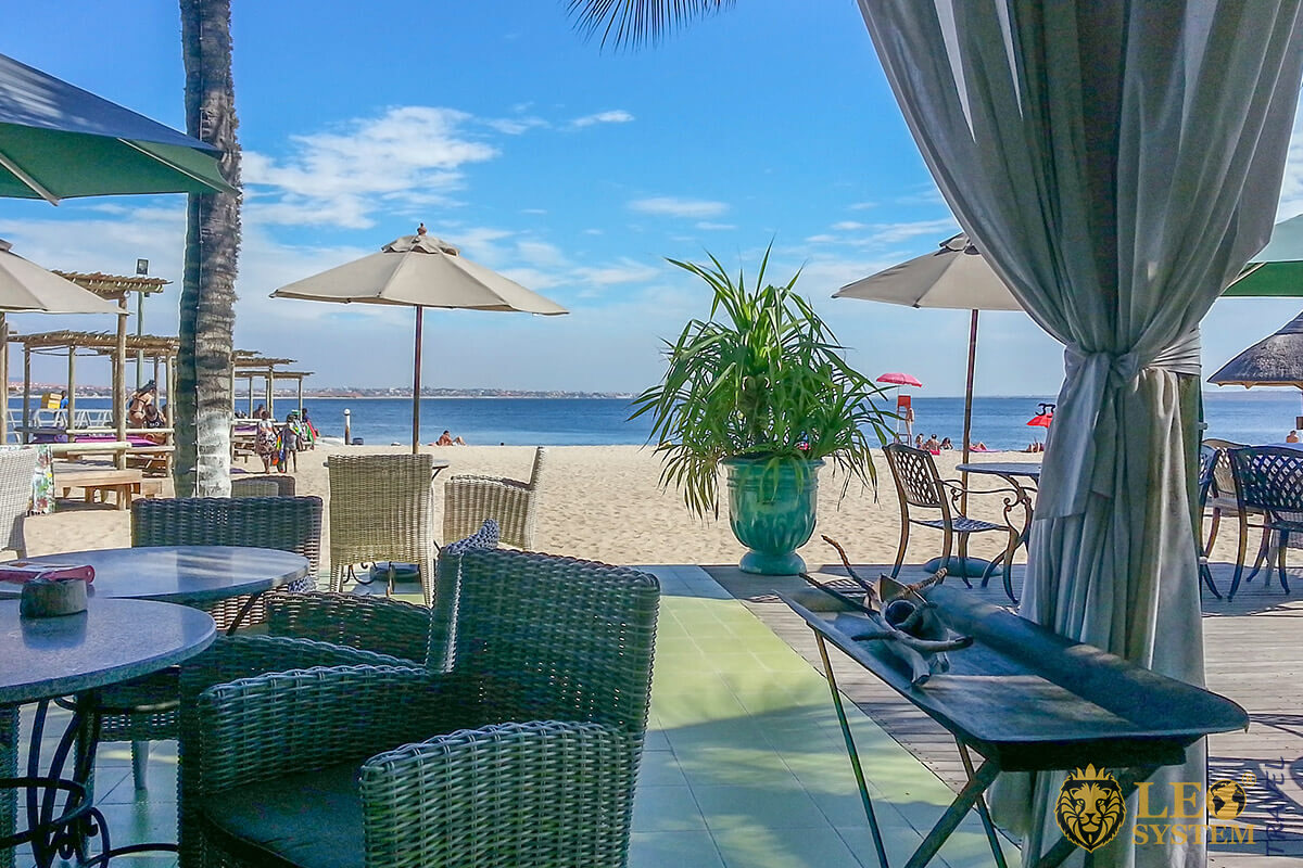 Image of a restaurant on the beach - Luanda, Capital of Angola