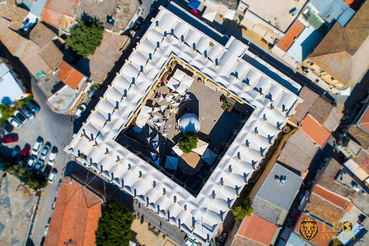 Büyük Han - panoramic view from above