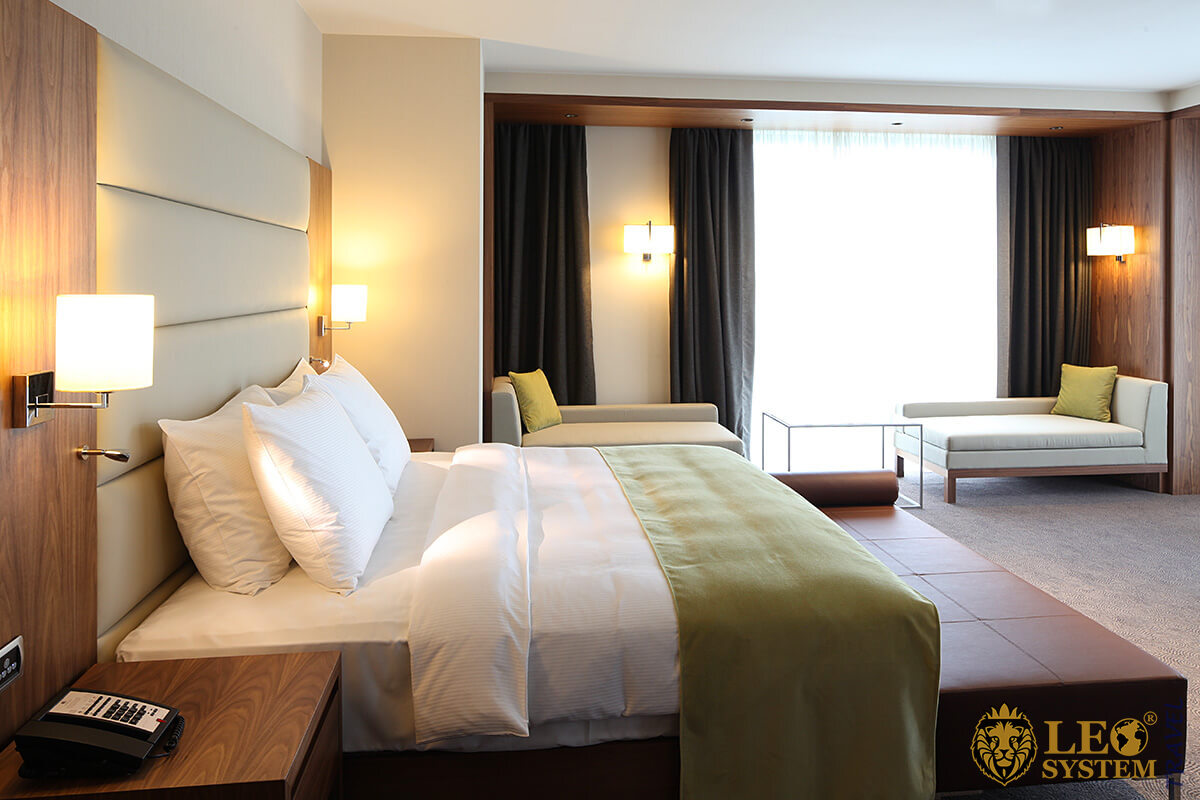 Epic Sana Luanda hotel - abstract image of a hotel room