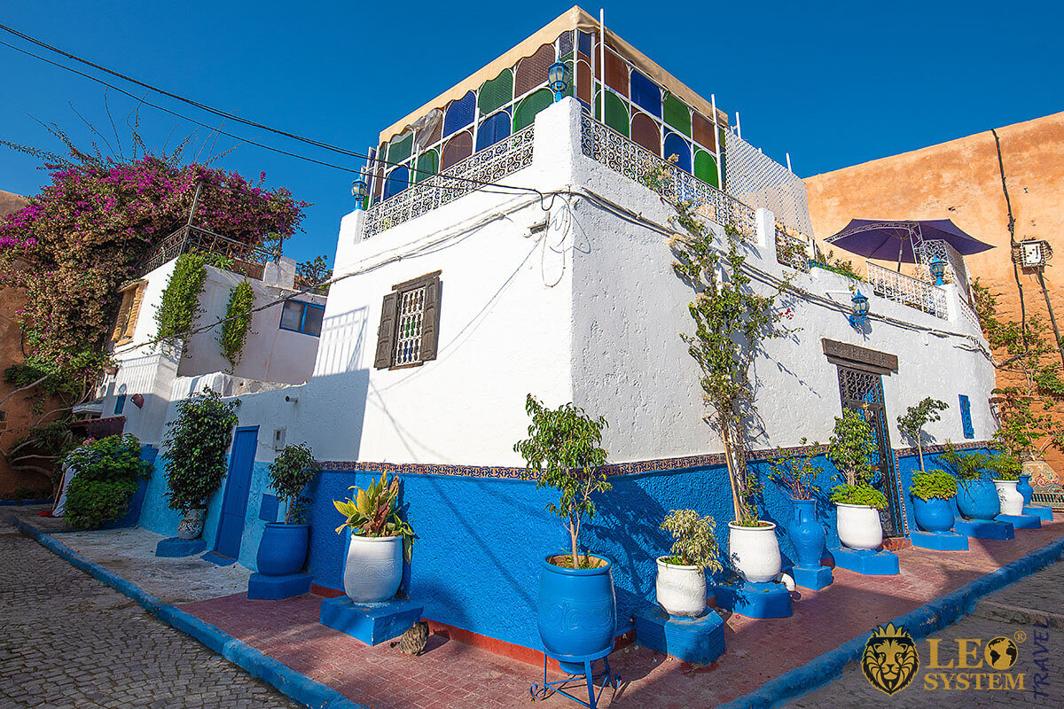 Oudaias Kasbah - this area is the main tourist center of Rabat