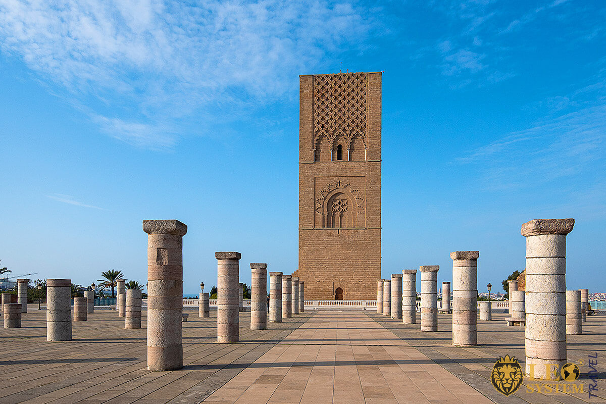 Hassan Tower - popular attraction in Rabat, Morocco