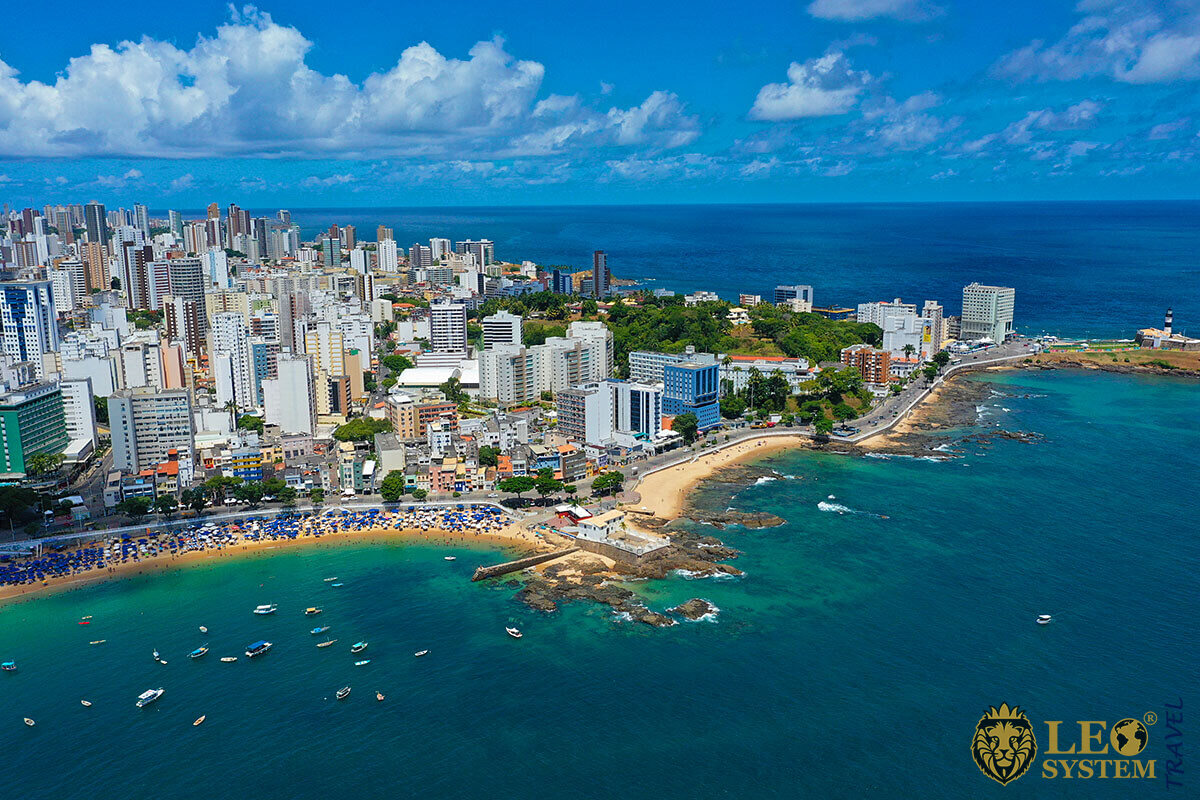 Landscape of the beautiful Brazilian coast