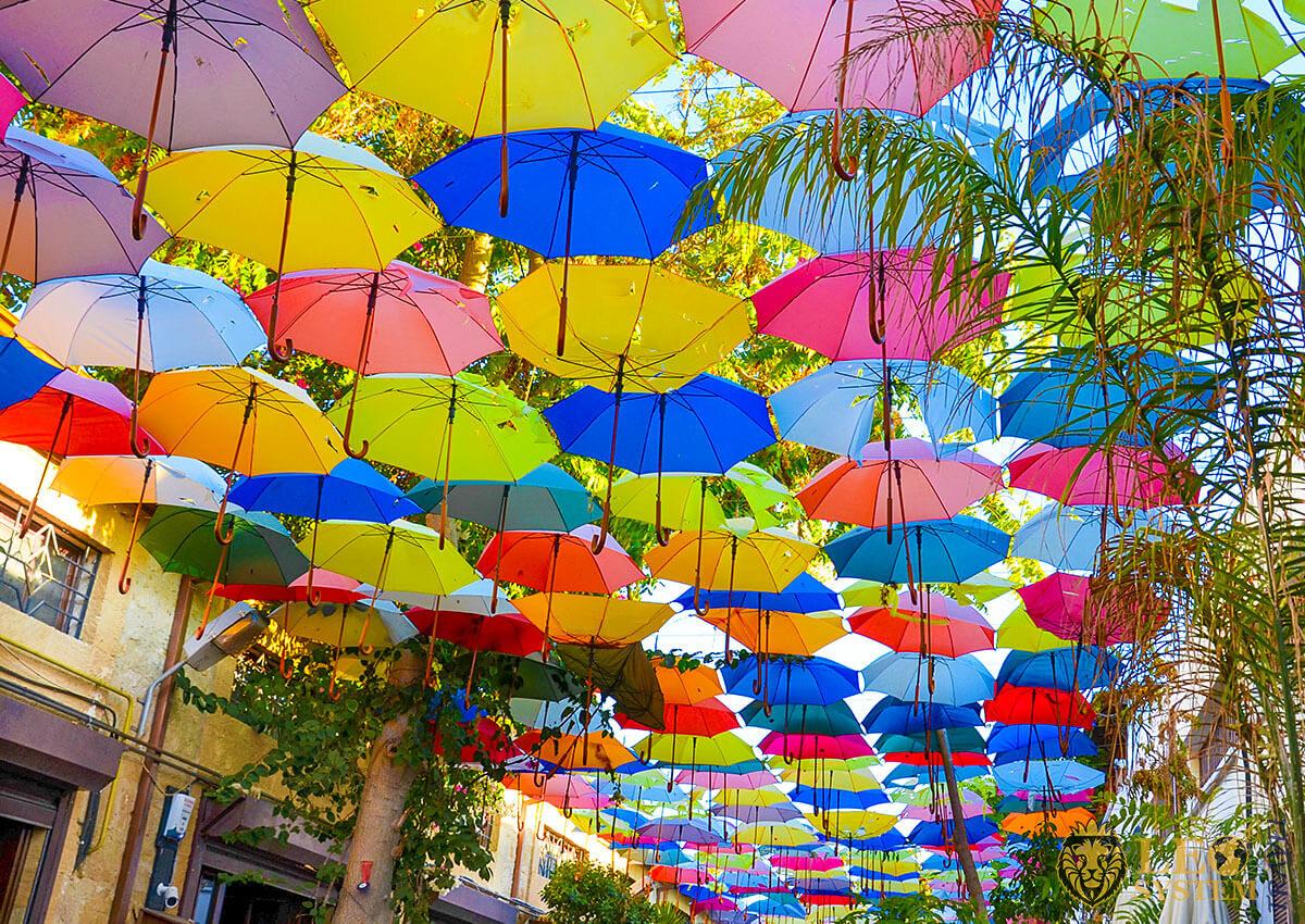 Popular street for tourists - Ledra Street, Nicosia, Cyprus