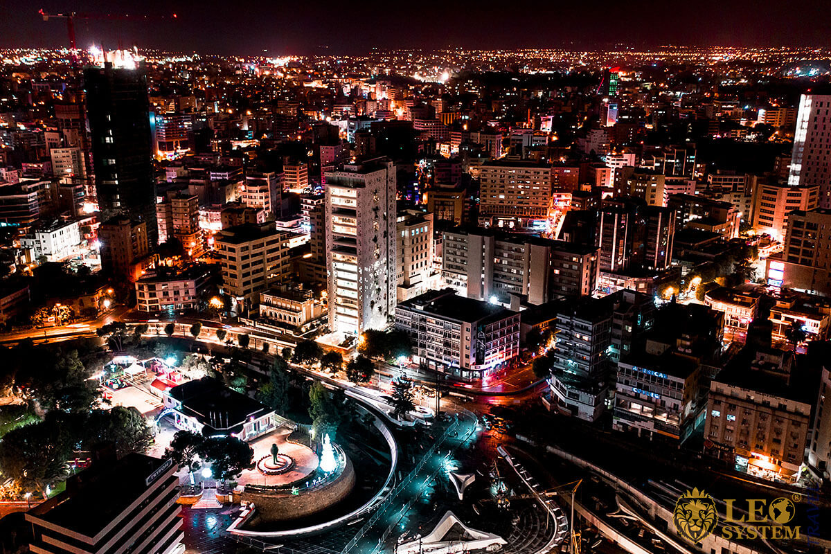 Nicosia Nightlife Tour - panoramic view of the night city