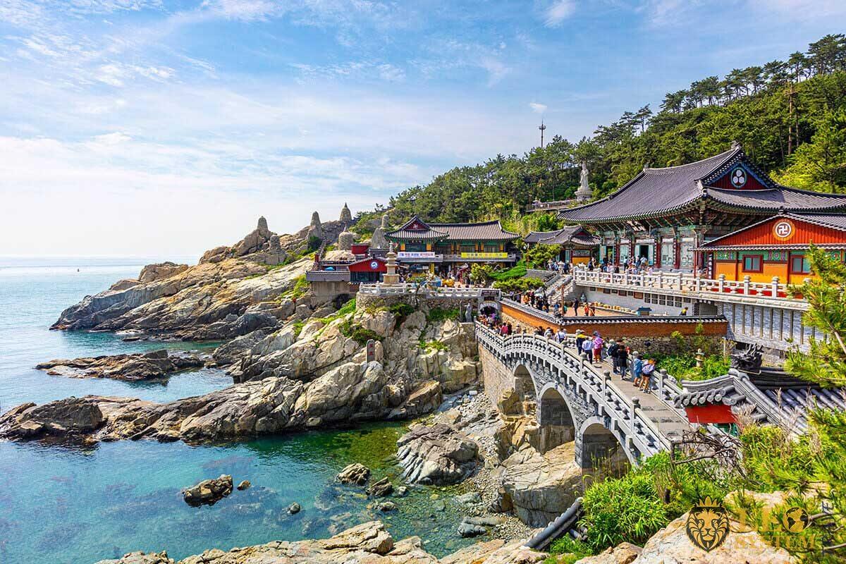 General view of Busan temple hadon of enhansa in South Korea