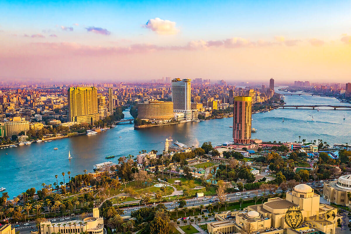 Panoramic view of Cairo, Egypt