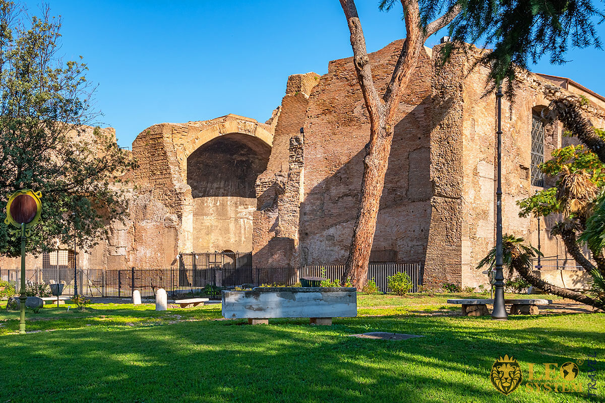 Image of the bath complex Baths of Diocletian, Rome