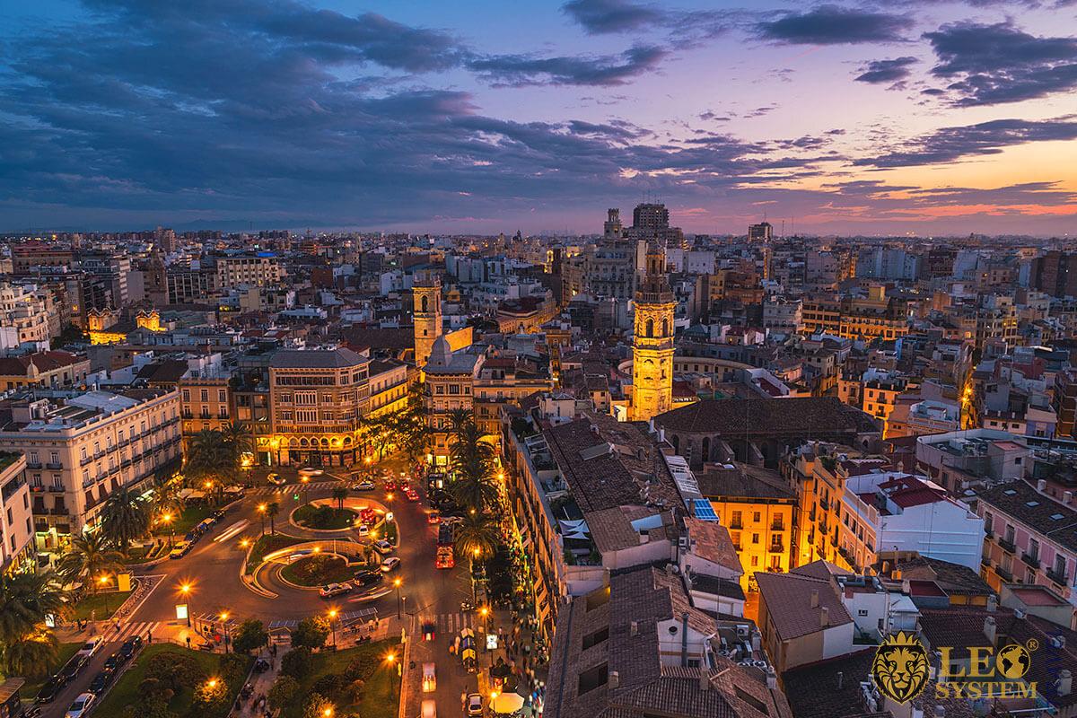 View of night Valencia