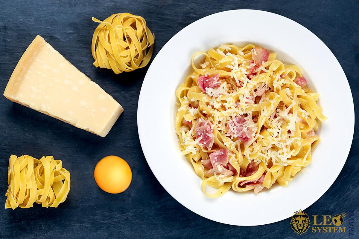 Popular Italian food Pasta Carbonara