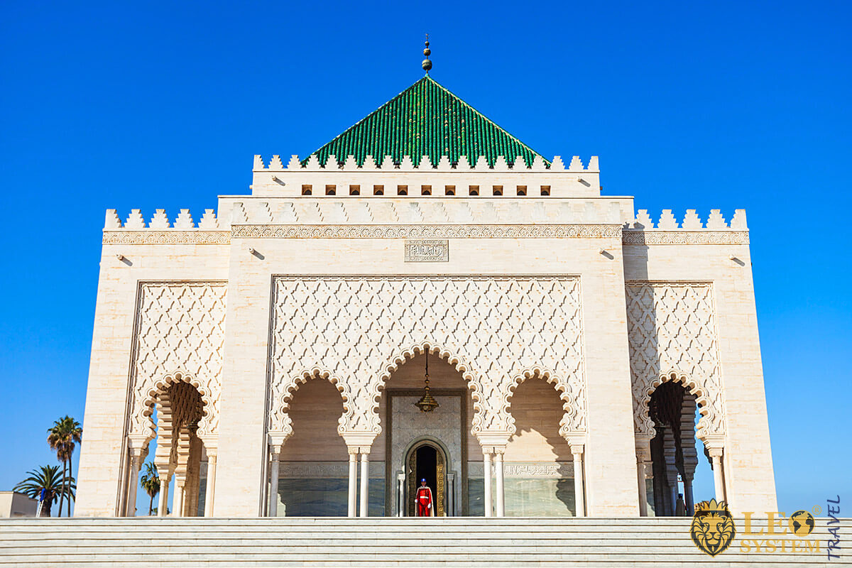 View of the Mausoleum of King Mohammed V