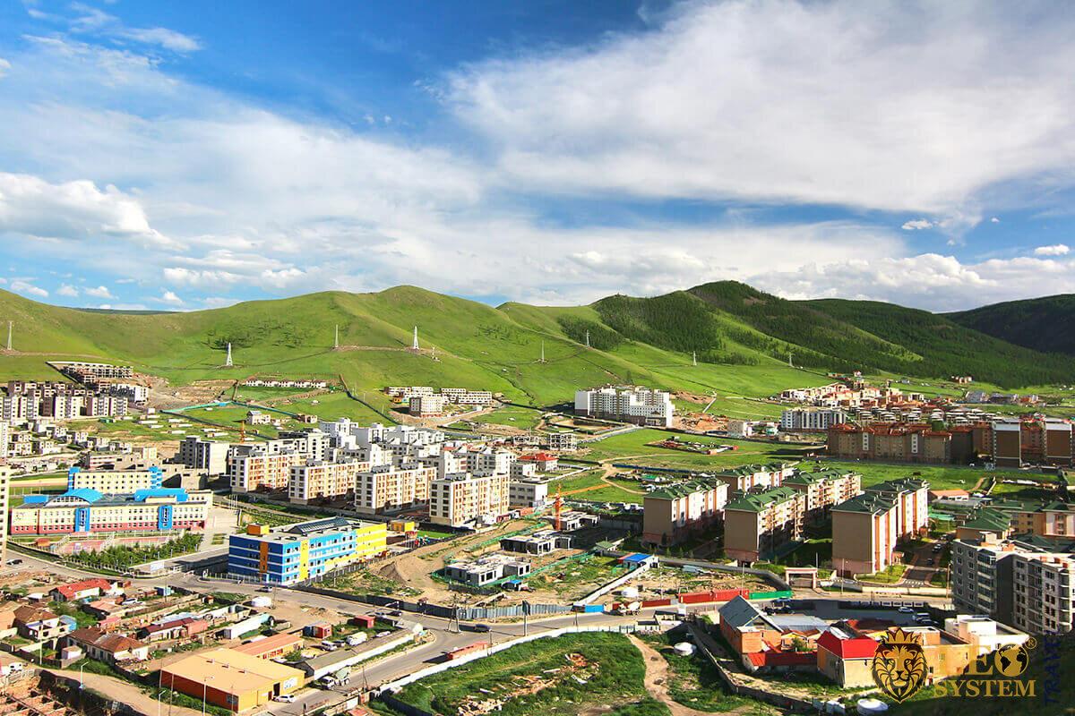 Green and beautiful mountain Ulan Bator in Mongolia