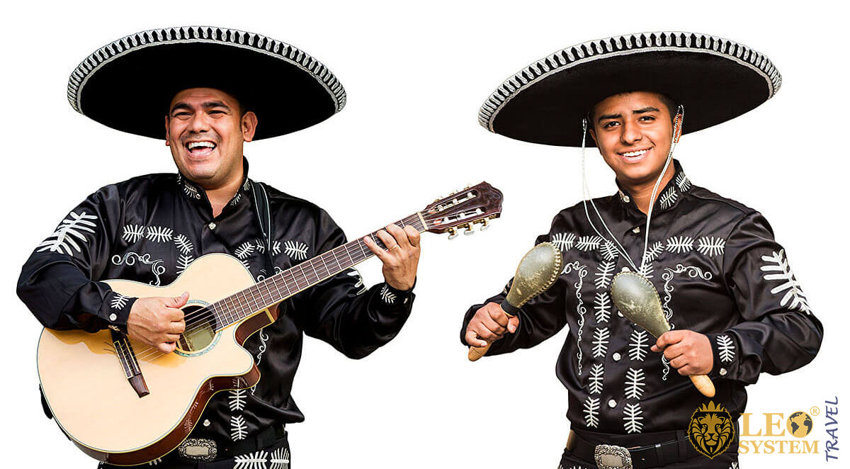 Cheerful Mexican musicians