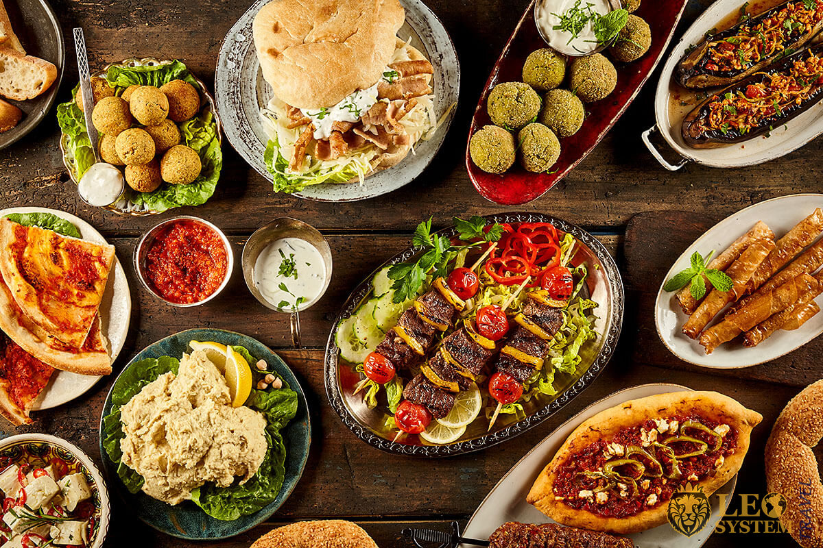 Babylon Bar - large assortment of national food