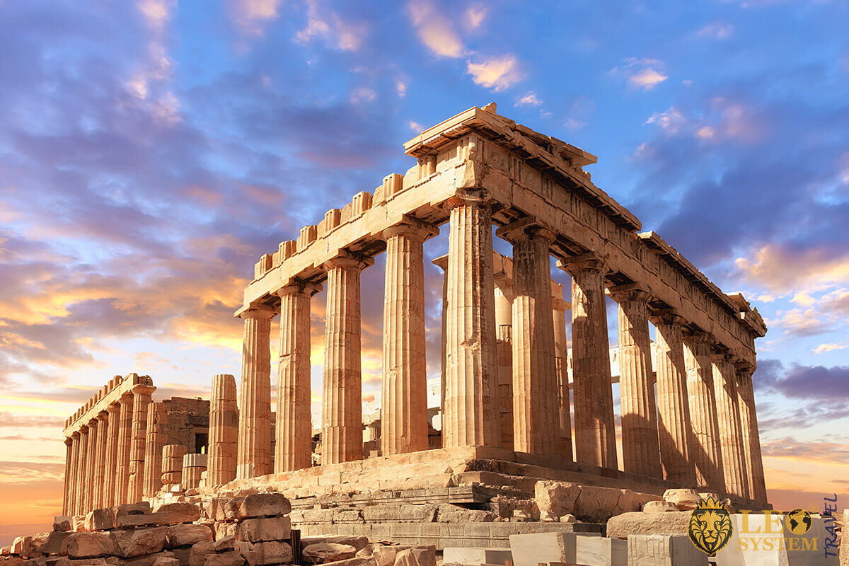 Parthenon temple on a sunset - Athens