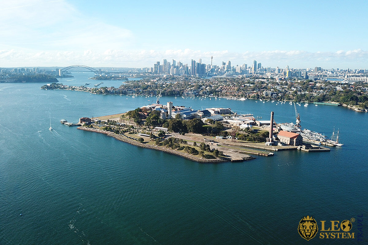 Image of Cockatoo Island is a UNESCO World Heritage site, Australia