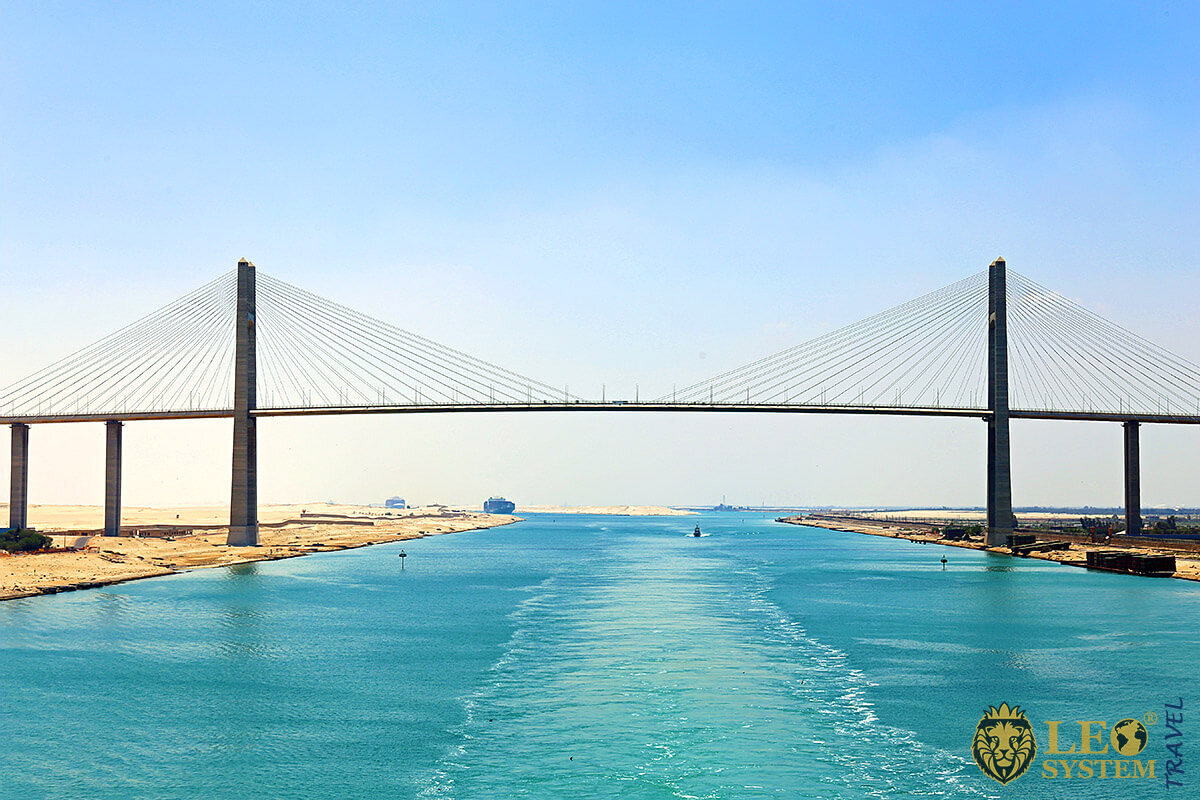 Beautiful view of the Suez Canal