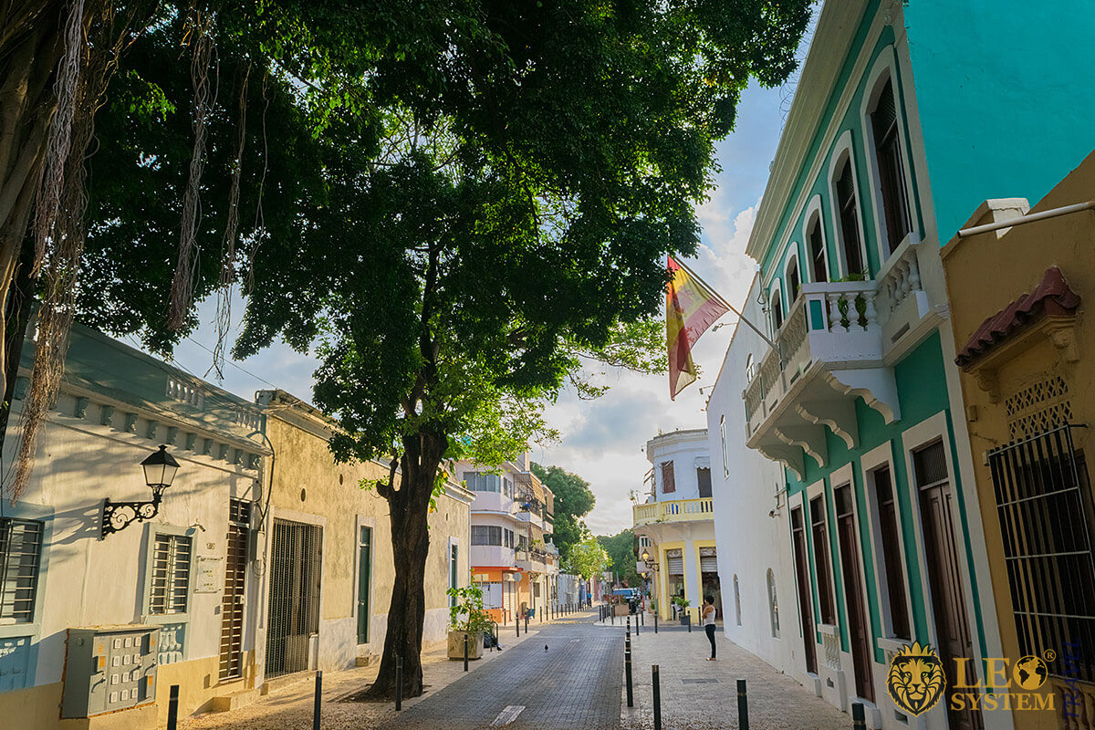 View of the oldest street of America - Calle de la Fortaleza, Santo Domingo, Dominican Republic