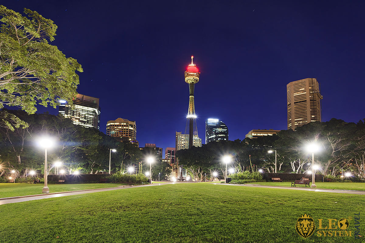 Panoramic view of the Sydney Tower is the tallest building in Sydney