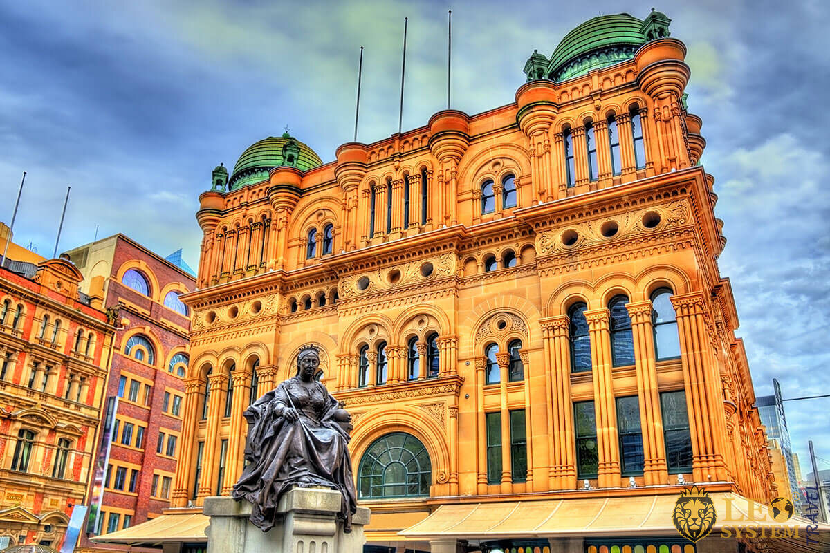 Image of Queen Victoria Building - famous historical building in Sydney
