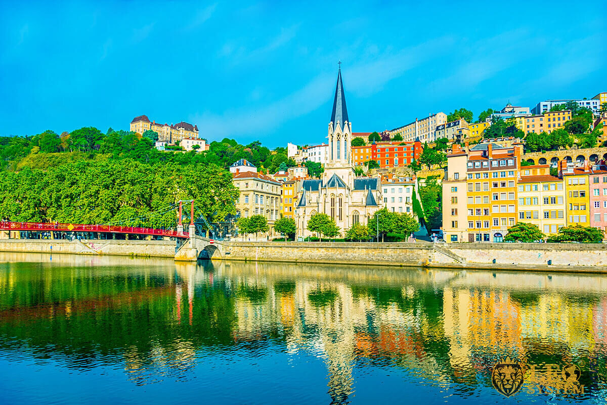 Panoramic view of the city of Lyon, France