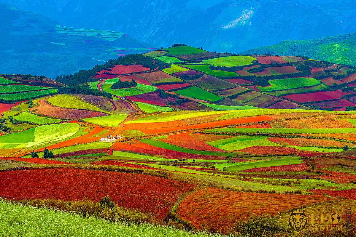 Image of beautiful landscape in Asia