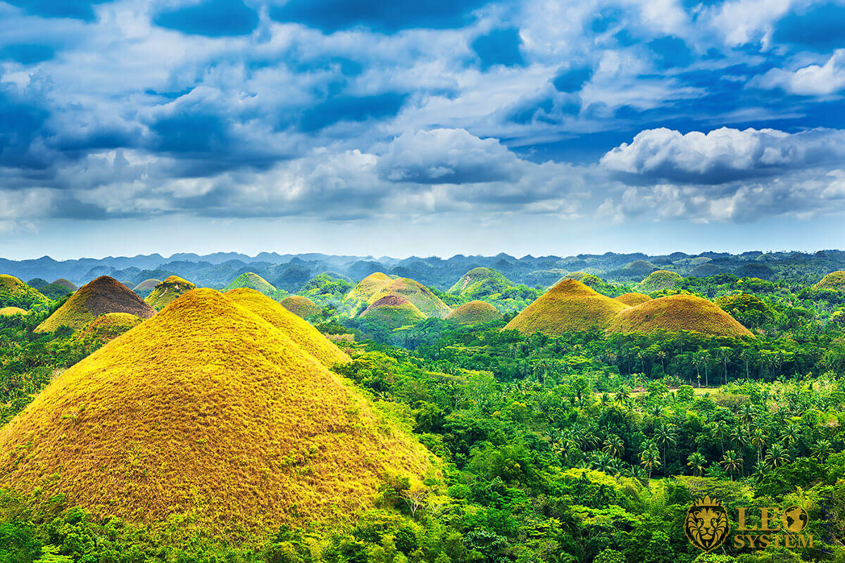 View of the amazing Chocolate Hills, Bohol, Philippines