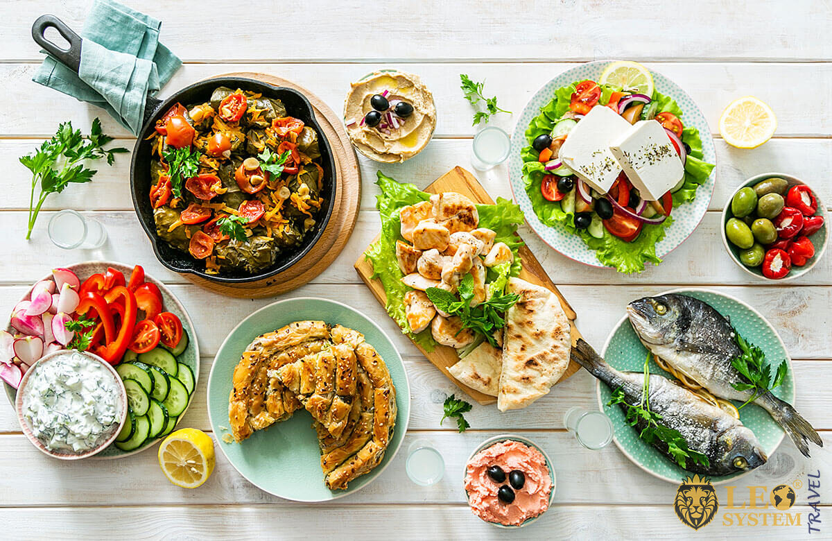 Image of various delicious dishes