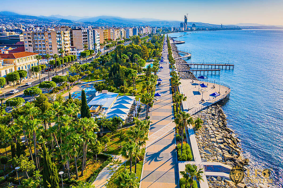Beautiful view of the waterfront in Limassol, Cyprus