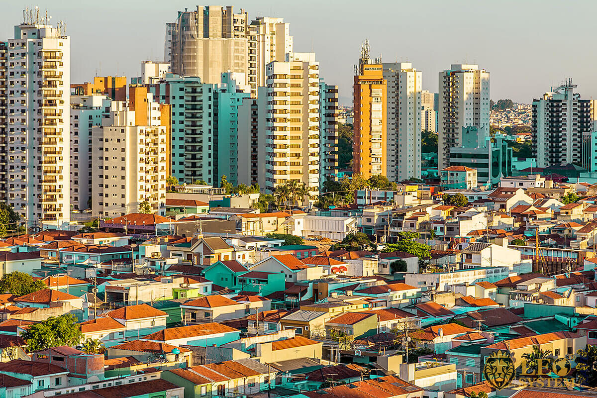 View of the many houses in Sao Paulo