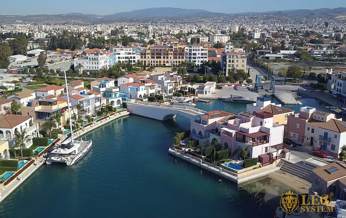 Panoramic views of the Limassol Marina