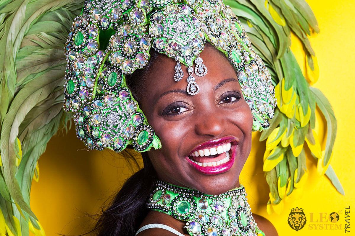 Image of a woman in carnival costume, Rio de Janeiro