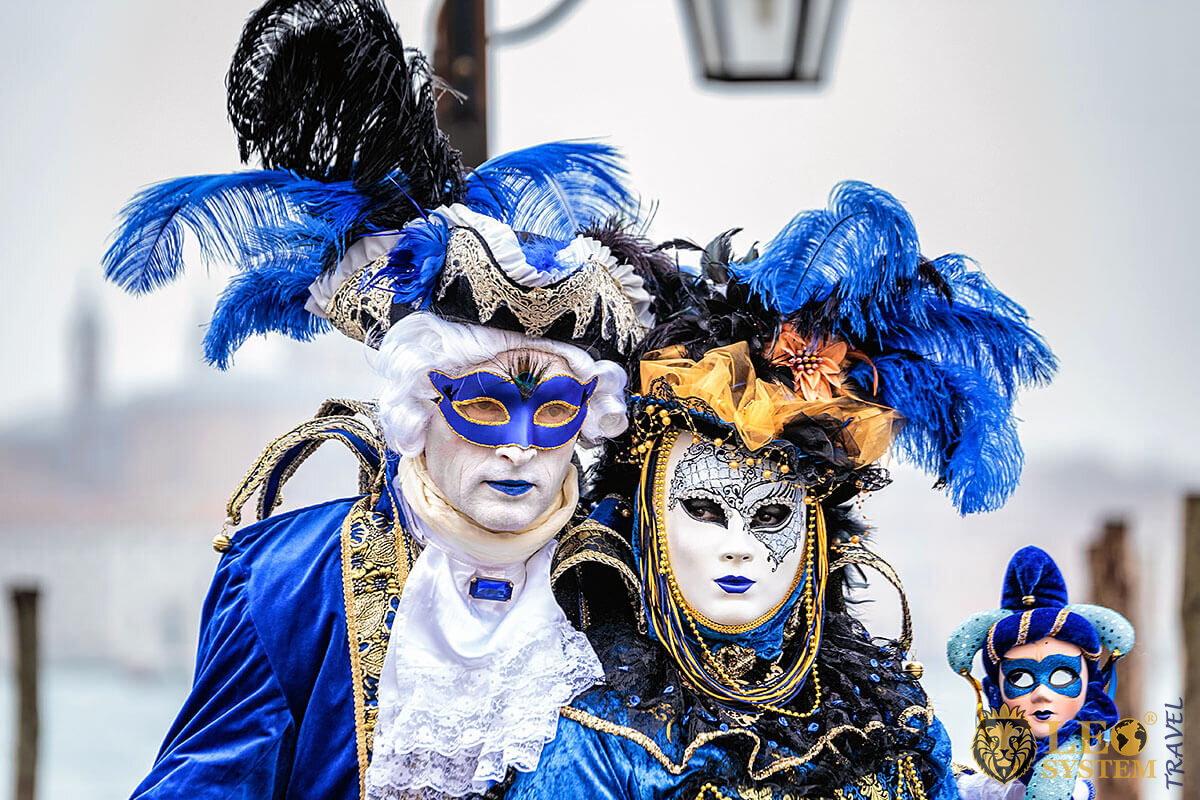 Carnival in Italy - masked people and costumes