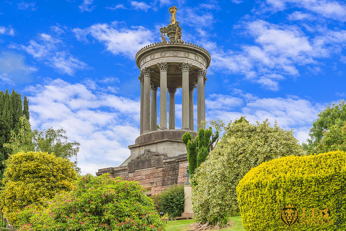 Burns Monument in Alloway, Ayr, Scotland