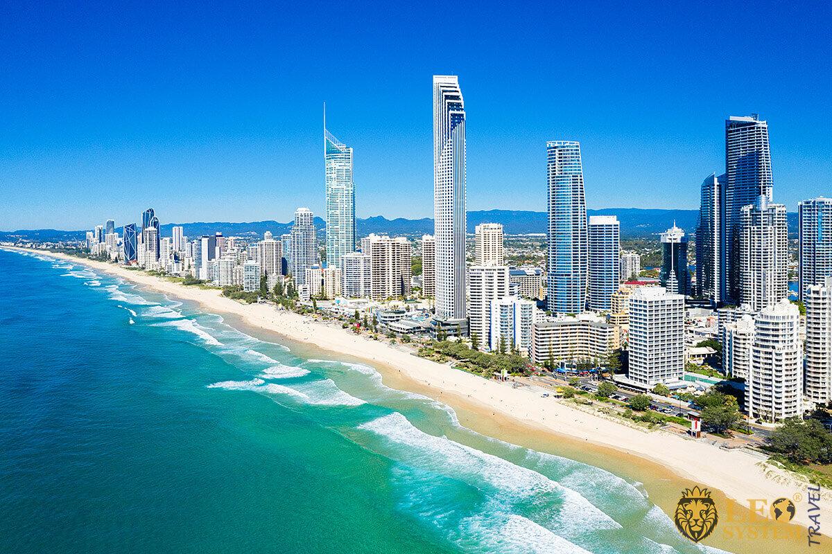 Panoramic view of the beach in Australia