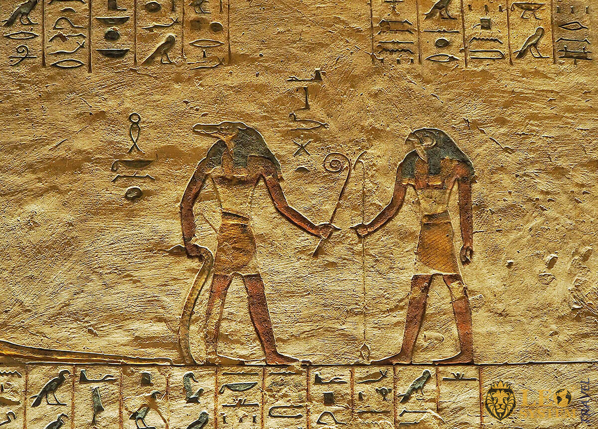 Egypt Hieroglyphics in Valley of Kings, Egypt
