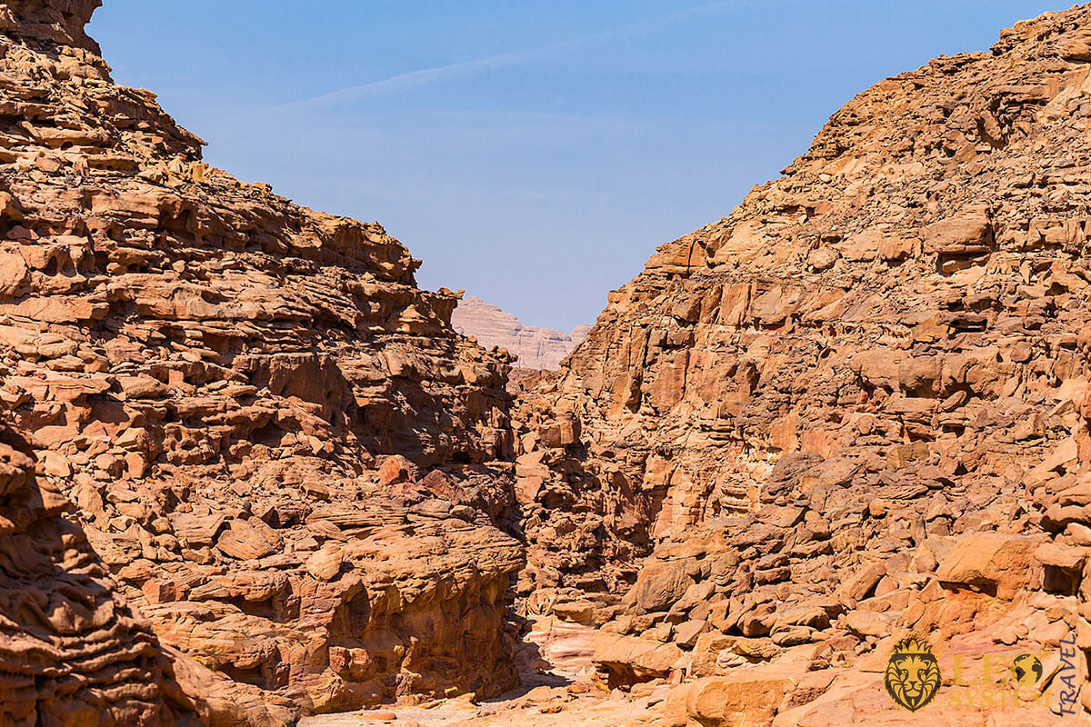 Image of a rock formation, Egypt