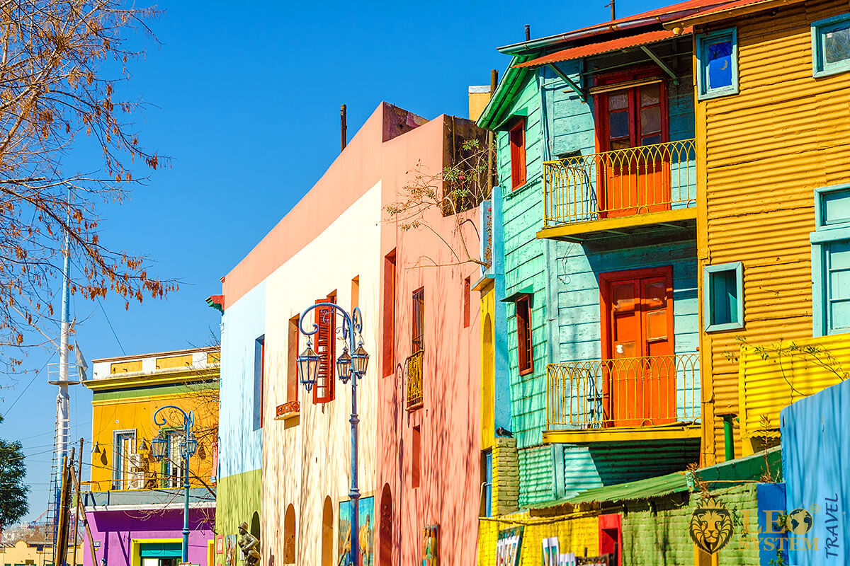 El Caminito is an unusual Street Museum, located in the La Boca neighborhood, Buenos Aires