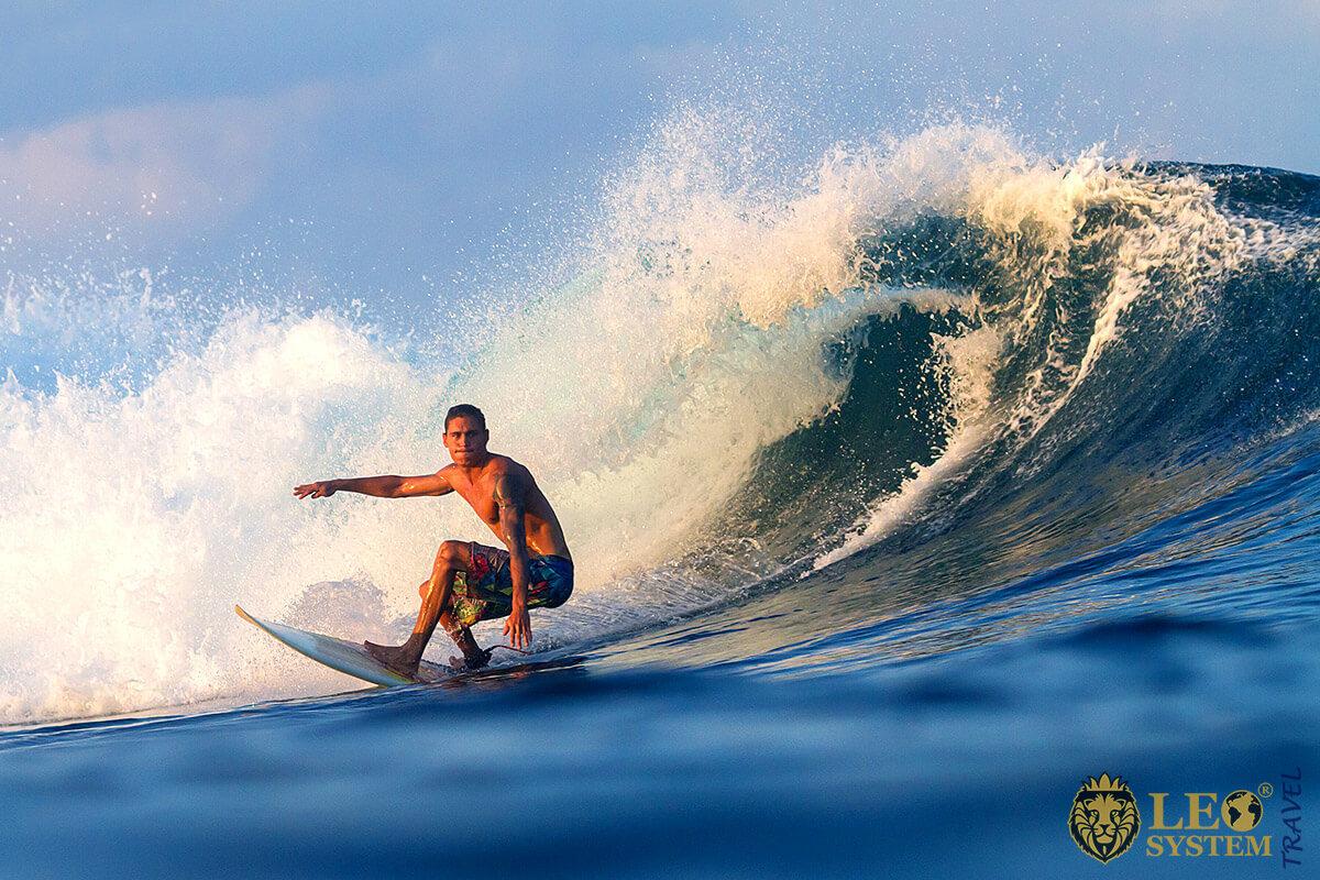 Image of a Surfer on a big wave