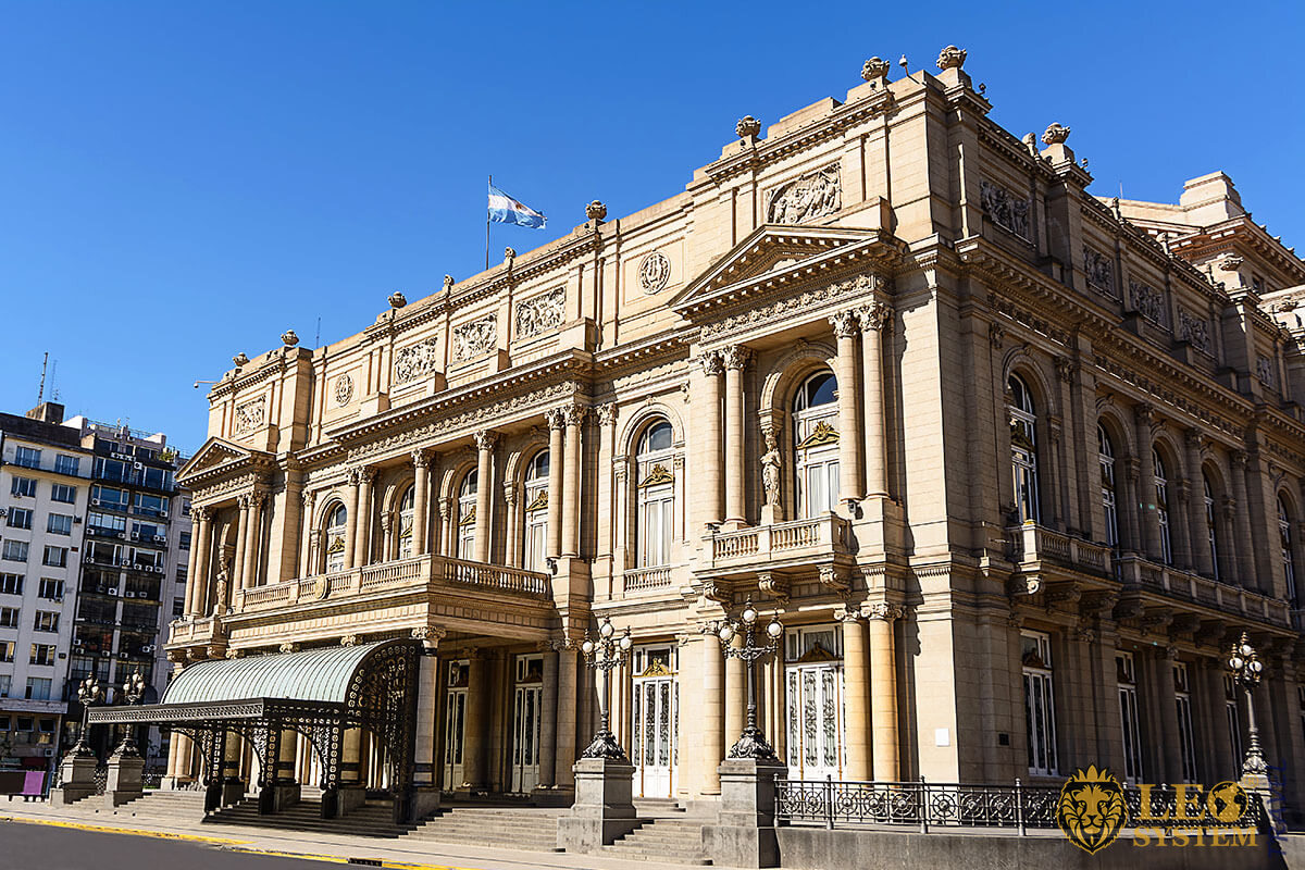 Teatro Colón - historical landmark and the main theater of the city, Buenos Aires, Argentina