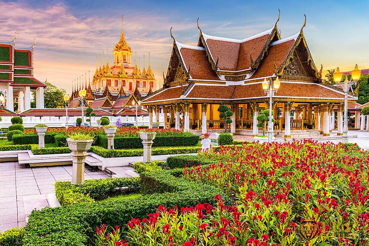 Wat Ratchanatdaram Temple in Bangkok, Asia