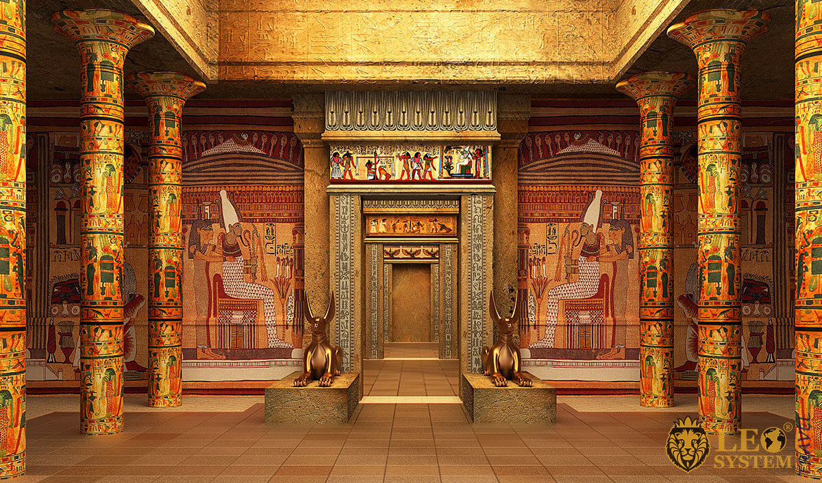 Image of the tomb of Pharaoh